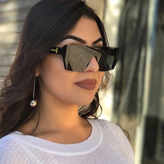 d9b32e7b33cfe Winla Dama Da Moda Óculos De Sol Mulheres Praça Estilo Óculos de Sol para  As Mulheres
