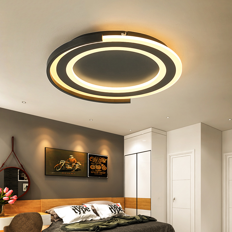Lustre Led design idéal Diameter400/520mm finition noir/blanc lustres led modernes pour salon chambre salle des maîtres