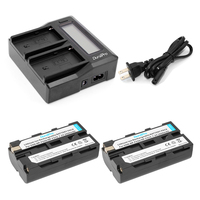 Durapro 2 Pcs 2600mAh NP F550 NP F550 Cameras Battery LCD Quick Dual Charger For Sony