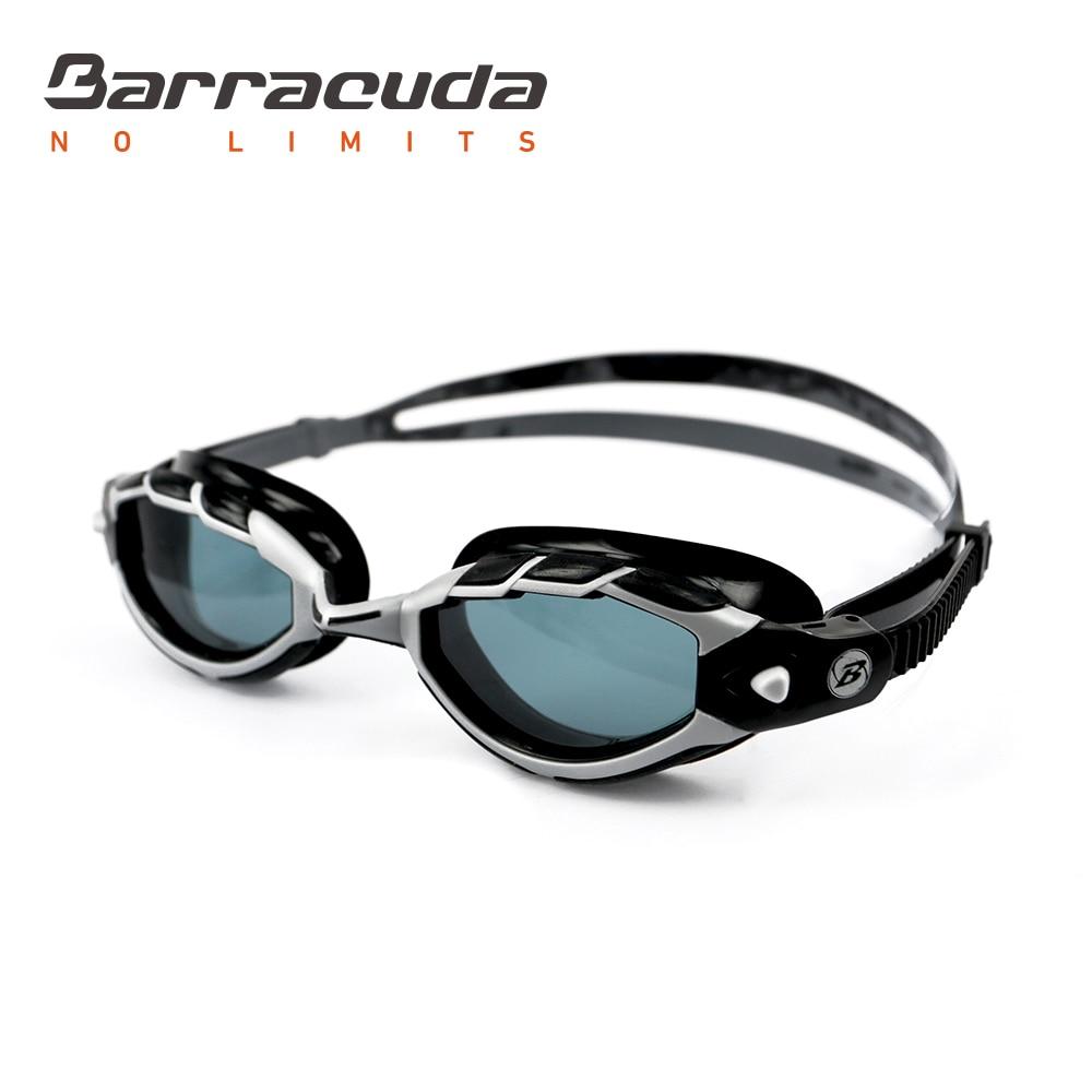Barracuda жүзу көзілдірігі TRITON Wire Frame Technology Ересектерге қарсы тұманға қарсы ультракүлгіннен қорғау Triathlon Ерлер # 33925