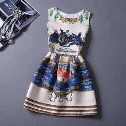 Vintage Summer Women Princess Dress Floral Print Sexy Bodycon Sleeveless Casual O Neck Lady Elegant Party Dresses Vestidos XL 6