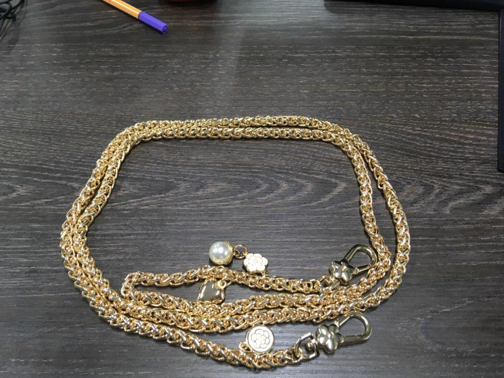 DIY Accessoires 40cm-140cm Vervanging Gouden Metalen Ketting Schouderbanden voor Kleine Tassen, Handtassen 8mm Tas Handgrepen Tasriemen photo review