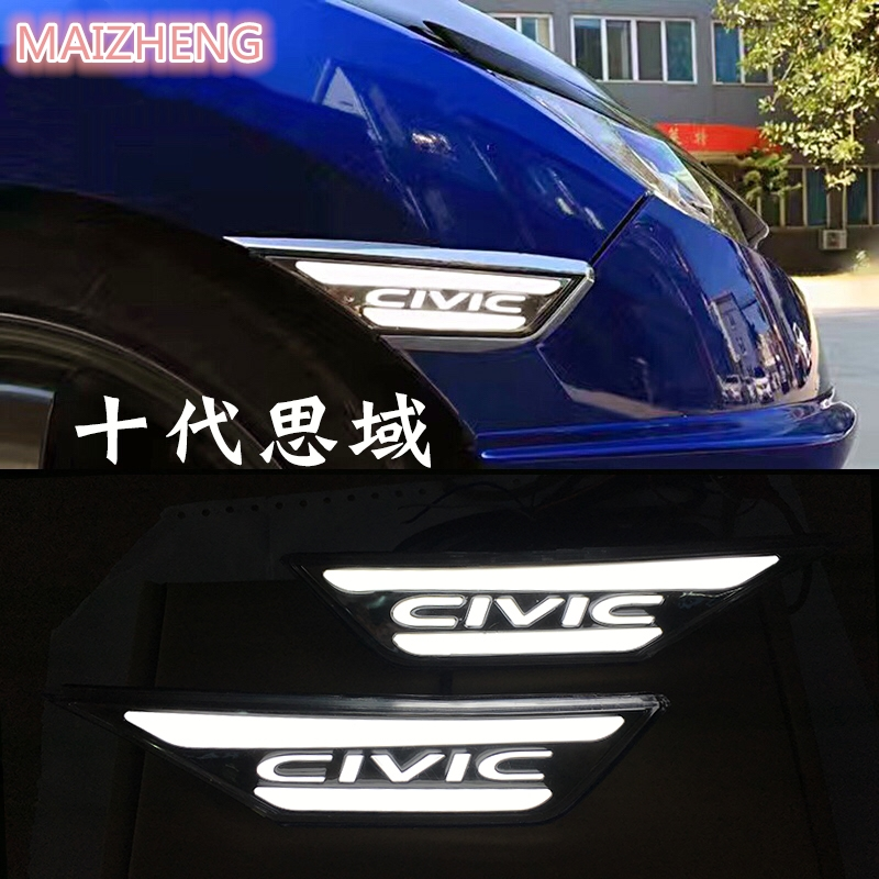 Car Flashing 1 set For Honda Civic 10th 2016 2017 Turning LED Side  Marker Light Fender Turn DRL Daytime Running Light Daylight hot free 6in1 combination of activities head ratchet wrench car repair parts hand tools wrench a set of keys 8 9 10 11 12 13