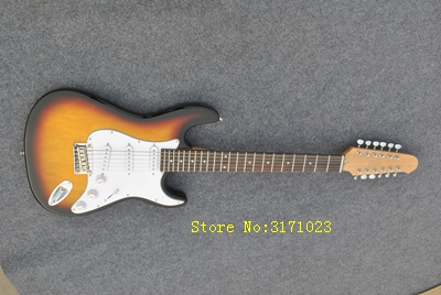 High-quality ST 12 string guitar, fade, real photos. The factory wholesale. F D electric guitar Free Shipping wilkinson guitar accessories st electric guitar three single coil pickup all colors can be customized real photos free shipping