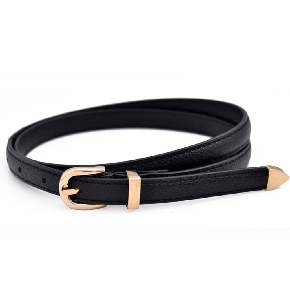 1 Pc 2018 New Fashion Simple Candy Color Patent Leather Thin Belt Women Girl Kids  Metal Buckle Thin Casual Decorative Waistband