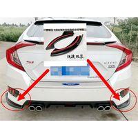 1 Pair Rear Bumper Lower Side Splitters Apron Valance For Honda For Civic 2016 2017 2018