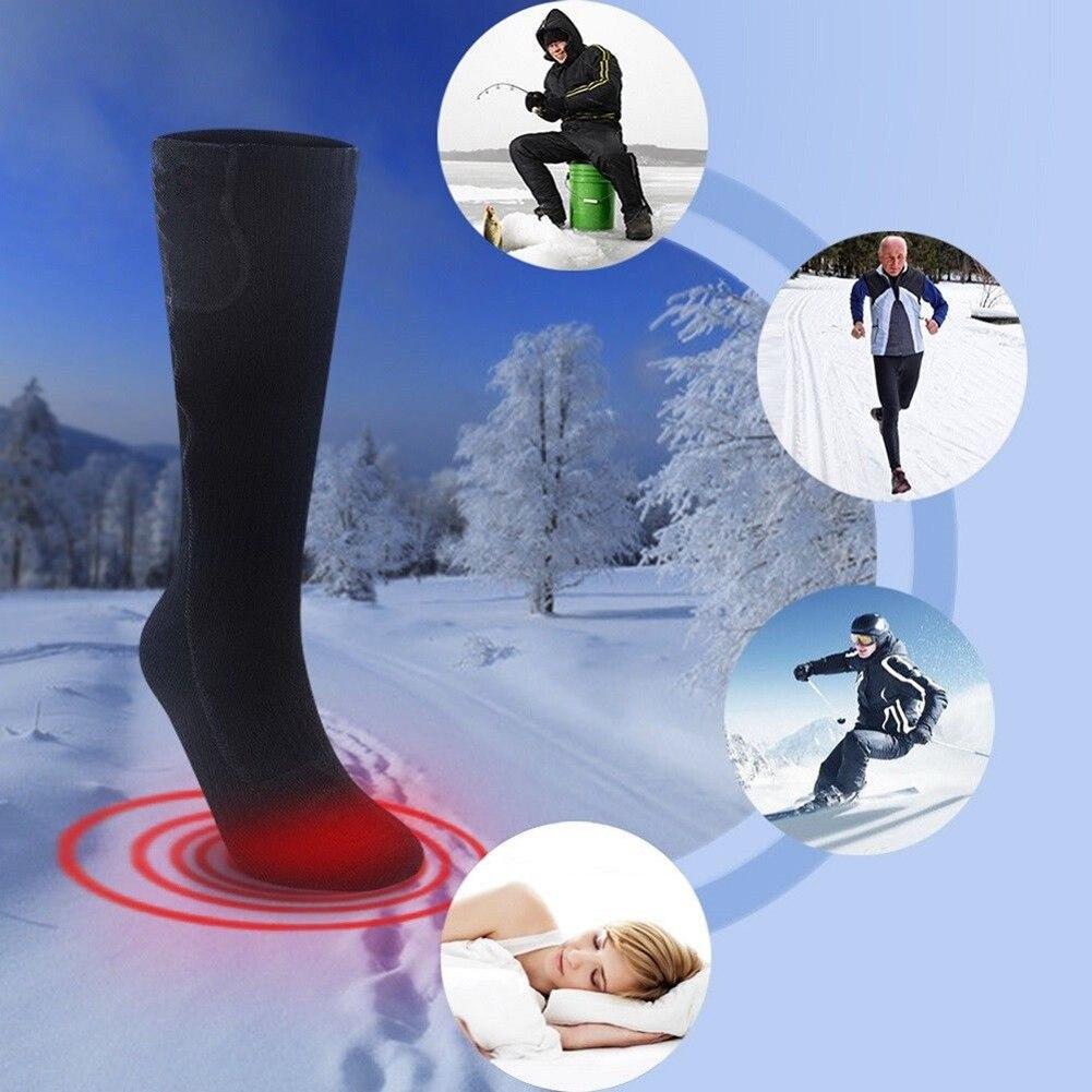 3V Battery Heated Adult Socks Winter Feet Foot Warmer Safe Electric Heater