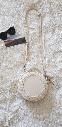 Women Messenger Bags Leather Female Messenger Bags Small Lady Knitting Circular Bag Round Girl  Handbag Drop photo review
