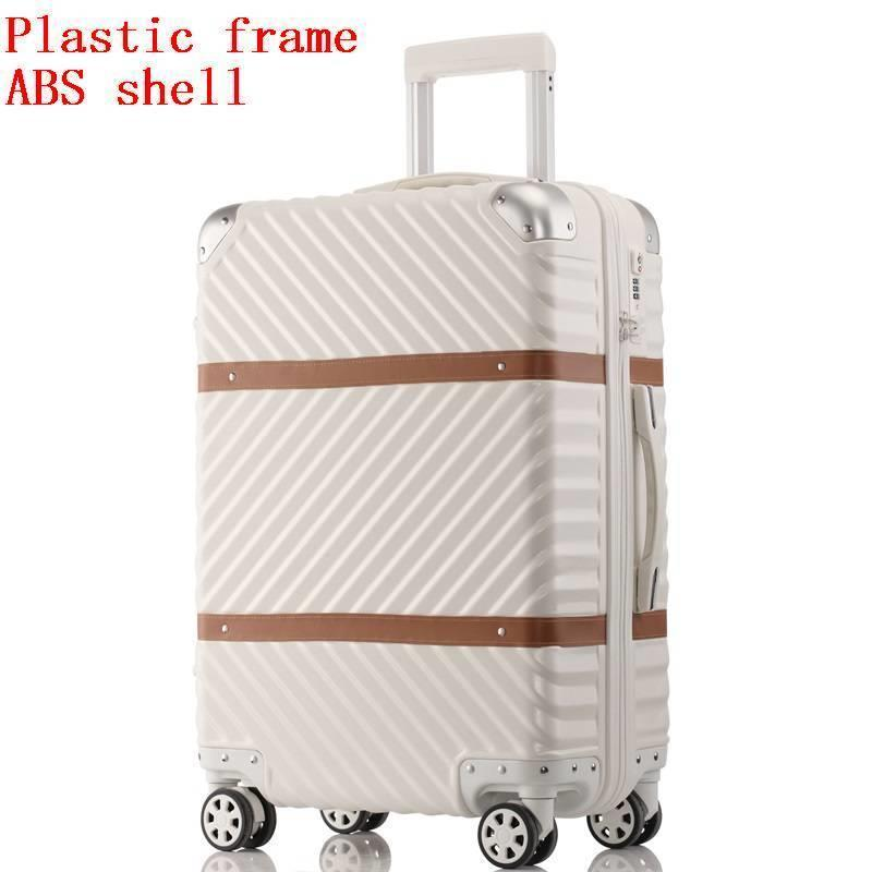 Med hjul Valise Bagage Roulettes Travel Aluminiumlegeringsram Carro - Väskor för bagage och resor - Foto 3