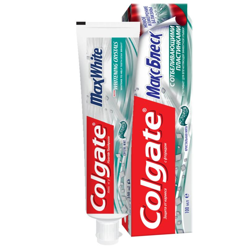 COLGATE Max Gloss whitening toothpaste, 100 ml colgate optic white sparkling white whitening toothpaste 75 ml