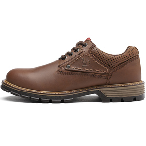 Image 3 - CAMEL Men Tooling Shoes Autumn Geunine Leather Martin Shoes Mens Trend Fashion Outdoor Casual Mens Shoes