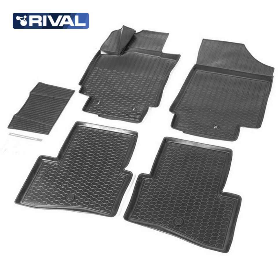 For Hyundai Creta 2016-2019 3D floor mats into saloon 5 pcs/set Rival 12310001