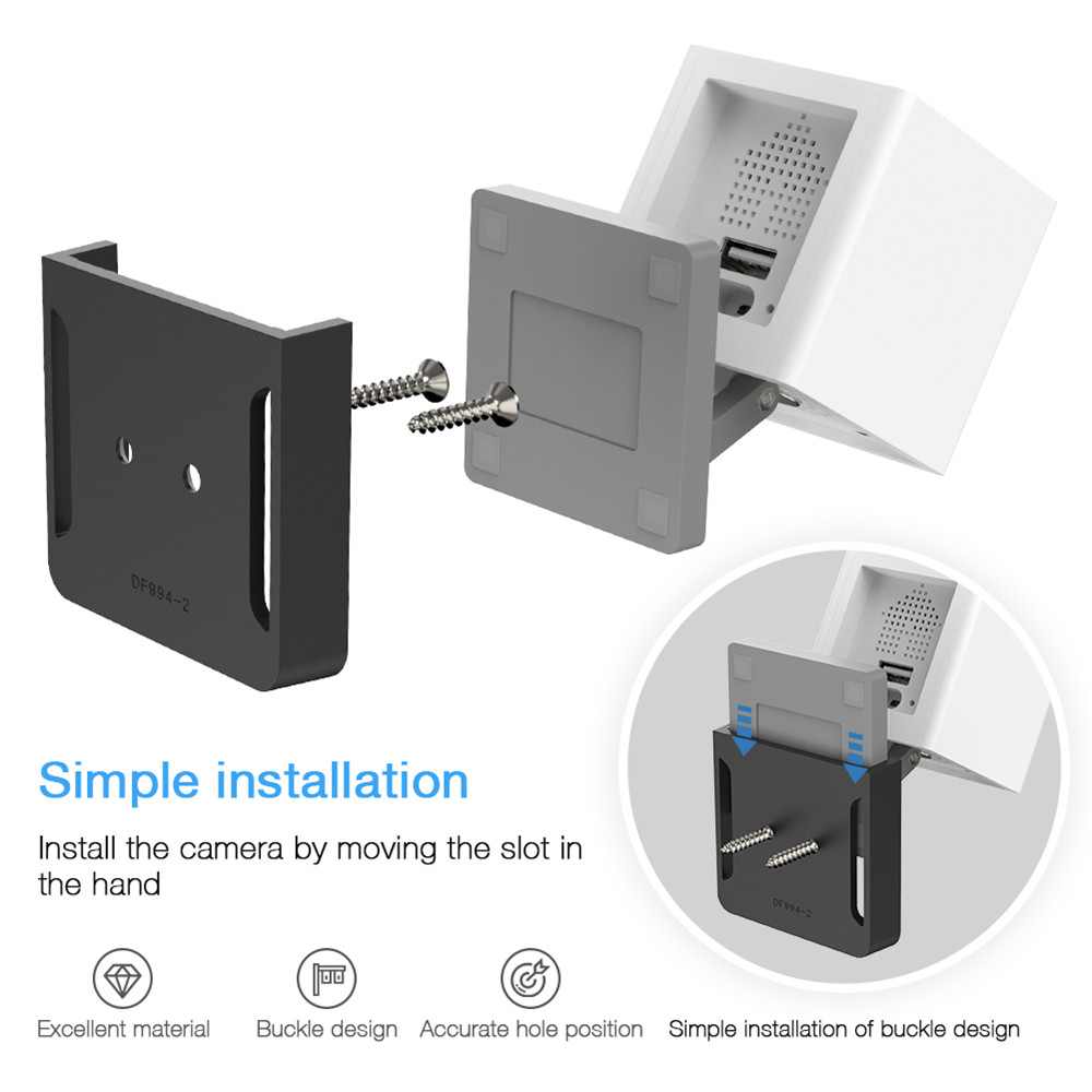 Base Holder Wall Mount for Wyze Cam/Xiaomi Mijia Xiaofang/Neos SmartCam  Indoor Security Surveillance Camera Mounting Brackets