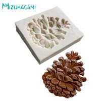 Molde de silicona de cono de piñones molde de caramelo de Chocolate pasta de goma herramientas de decoración de pasteles de Navidad DJ-00002