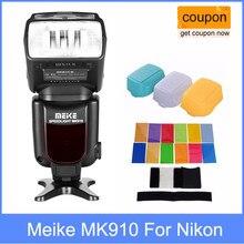 Meike mk910 MK-910 i-ttl hss flash speedlite para nikon como sb900 d750 d800 + 3 difusor para d7100 d800 d750 d600 dslr