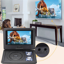 7Pcs In 1 9.8″ mini Portable Game Console Car DVD Player CD Support MP4 MP3 JPG Swivel USB SD 300 GAMES With DC 12V Car Adapter