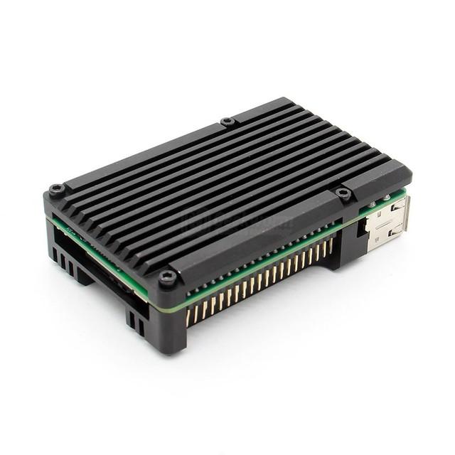 Raspberry Pi Armor Case / Raspberry Pi Metal Case Passive cooling/Shell Heat Dissipation for Raspberry Pi 3B+/3B