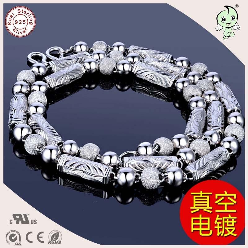 Collar de cadena gruesa de hombre gemométrica de plata esterlina S925 pesado Popular