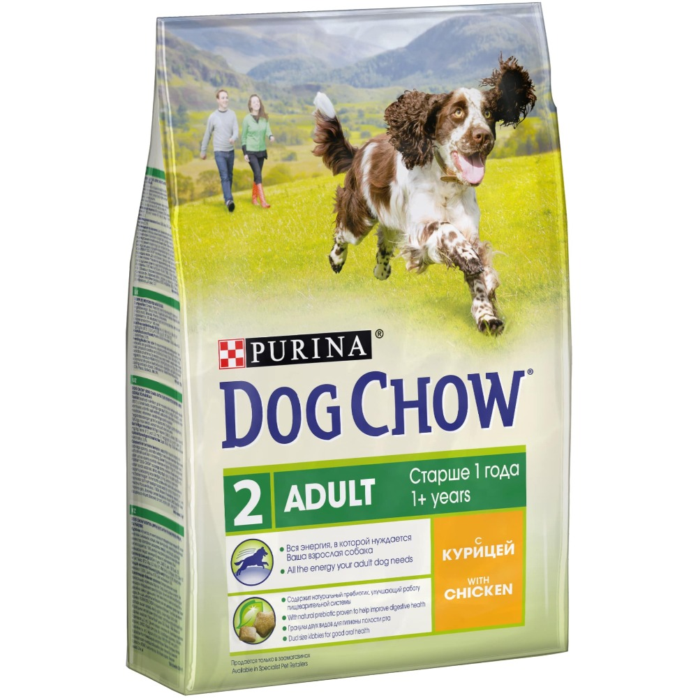 Dog Chow dry food for adult dogs over 1 year old with chicken, 10 kg.