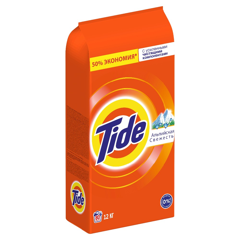 Laundry detergent Tide Automatic Alpine freshness 80 washes 12 kg.