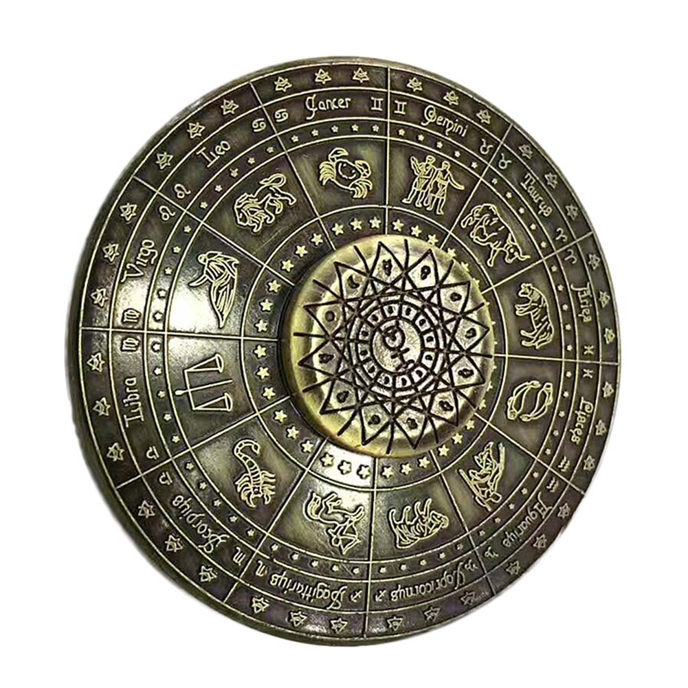 Stress Relief Toy Ancient Spinner Metal EDC Cool Stress Toy Egypt 12 Constellation Hand  ...