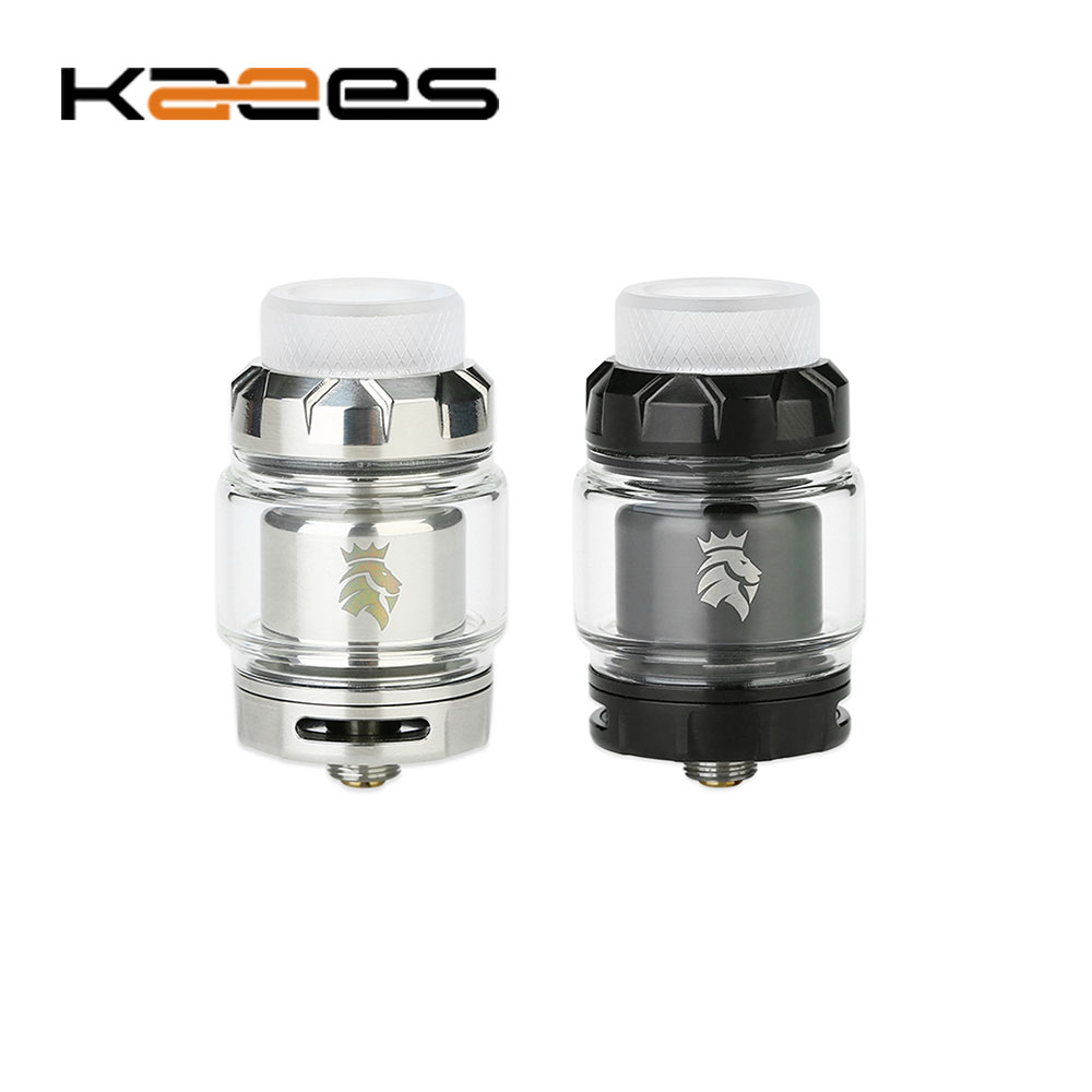 Original KAEES Stacked RTA 3ml/5ml Tank 24mm RTA Atomizer with Dual Coils Building & 810 Acrylic Drip Tip Vape Tank Vs Zeus Dual original volcanee rta dual coil tank atomizer 5ml 24mm diameter top refill for vape e cig vs reload doggy style skyline rta