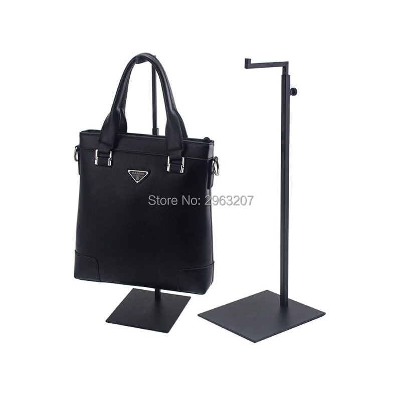 10 piezas bolso de mano ajustable negro estante de exhibición de Metal ganchos colgantes bolso exhibidor bolsa colgante pantalla-in Soportes y estanterías de almacenamiento from Hogar y Mascotas    1