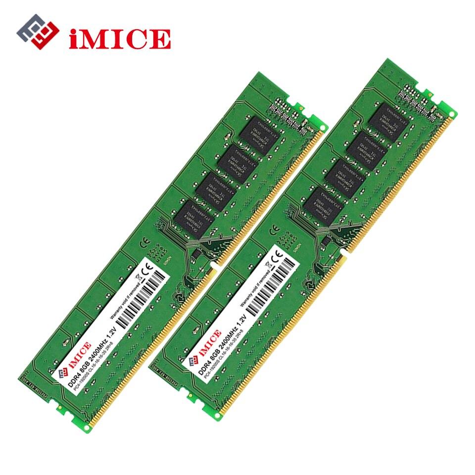 iMICE Desktop PC RAMs DDR4 8GB 2400MHz CL16 PC4-19200S 1.2V 2Rx8 288-Pin DIMM ARM For Desktop Memory Stick Compatible PC jzl memoria pc3 10600 ddr3 1333mhz pc3 10600 ddr 3 1333 mhz 8gb lc9 240 pin desktop pc computer dimm memory ram for amd cpu