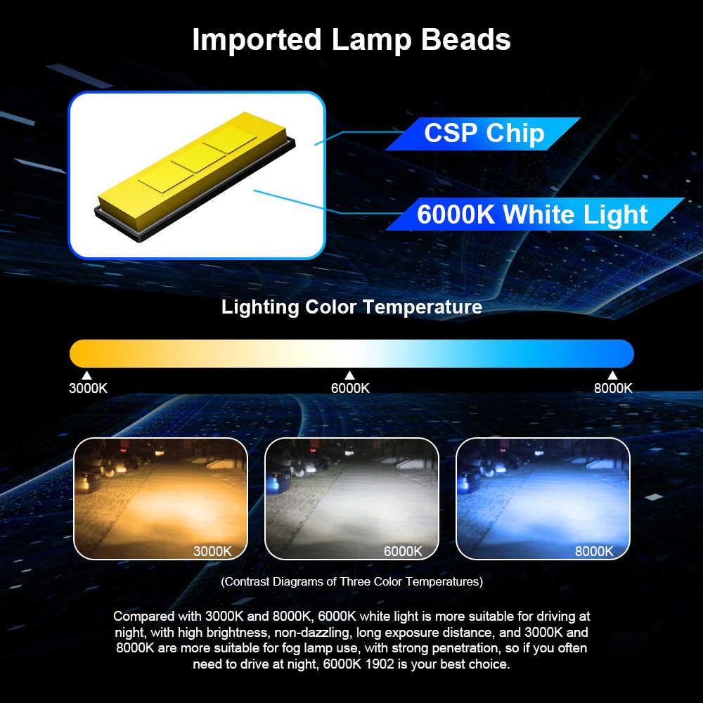2 шт. H1 Автомобильный светодиодный светильник H4 H7 Автомобильный светодиодный головной светильник HB2 9003 HB4 9006 H8 H9 H11 6000K 120 Вт супер яркий светодиодный светильник с Canbus led лампа