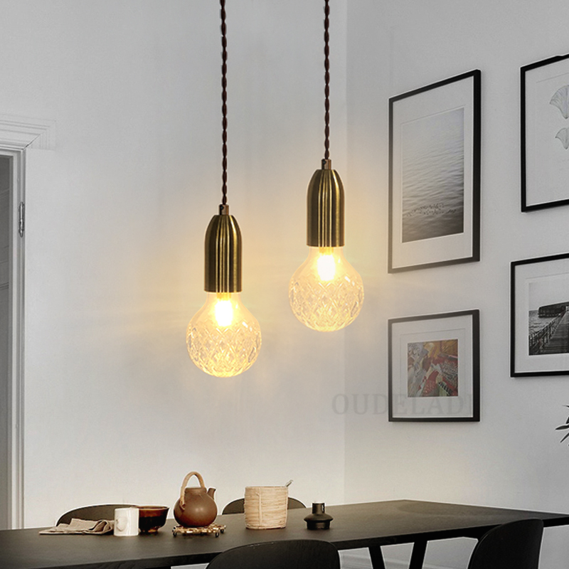 Modern pendant lights living room bedroom minimalist restaurant G9 LED Nordic Hanging lamp home decor glass ball pendant lamp modern brief fashion round ball crystal lamp pendant lamp restaurant lamp bedroom lamp living room lights