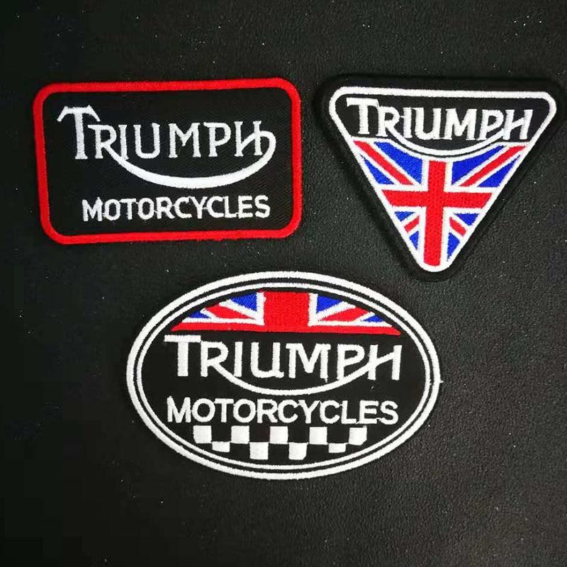 Remendos de ferro bordado costura triumph motocicletas motociclista acessórios etiqueta do remendo do punk roupas adesivos vestuário crachá