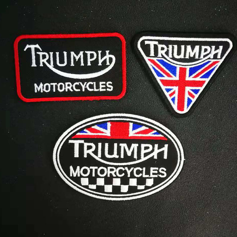 TRIUMPH motorcycles Iron On biker Patch Embroidered Sewing Label punk Patches Clothes Stickers Apparel Accessories Badge