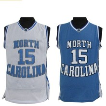 8b642c394 Retro Cheap Vince Carter 15 Basketball Jersey North Carolina Throwback  Stitched Embroidery High Quality Blue Shirts