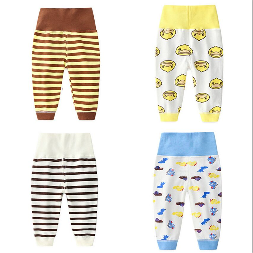 puseky Infant Baby Boy Girl Animal Wolf Print Harem Pants Long Crawling Trousers