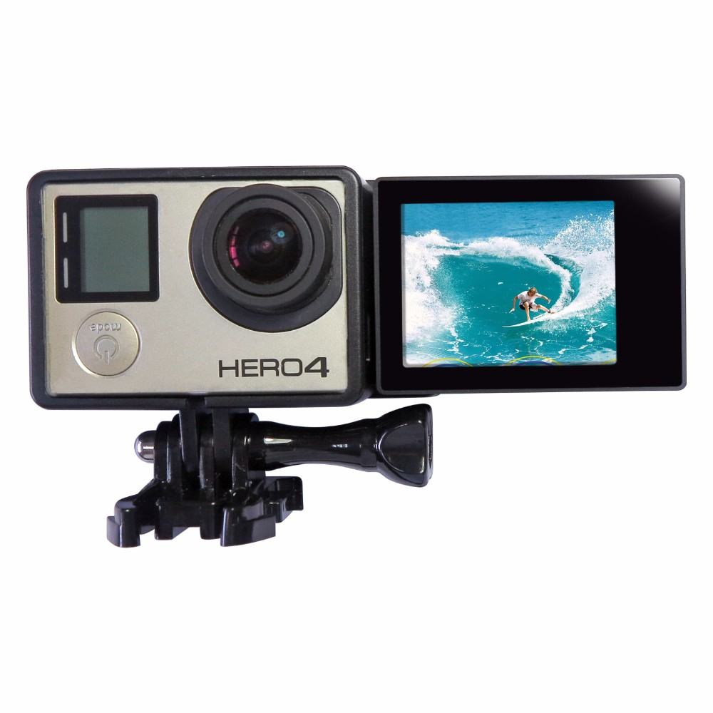 New 2 inch GoPro LCD Display with Protective Frame and LCD Screen Adapter For Gopro Hero 4 3+ Camera GoPro Hero 4 Accessories