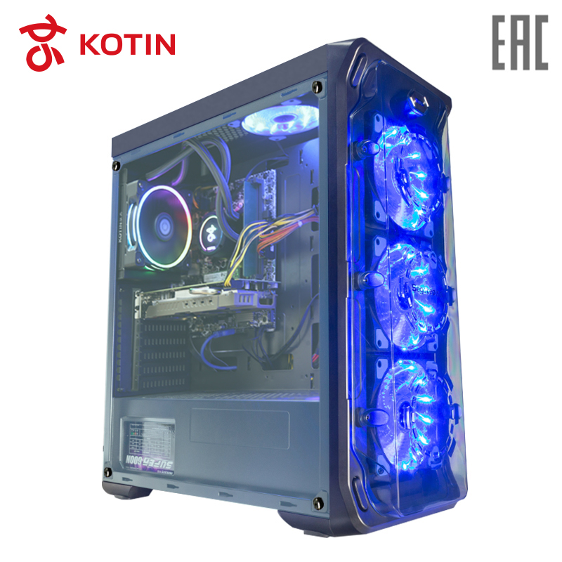 Gaming Desktop KOTIN GBW-1 / i7-8700 / 16G / 240G SSD+2T / GTX1060-6G / Water Cooling / Dos new 140mm cylinder water tank sc600 pump pc computer water cooling cooloer radiator 600l h c26