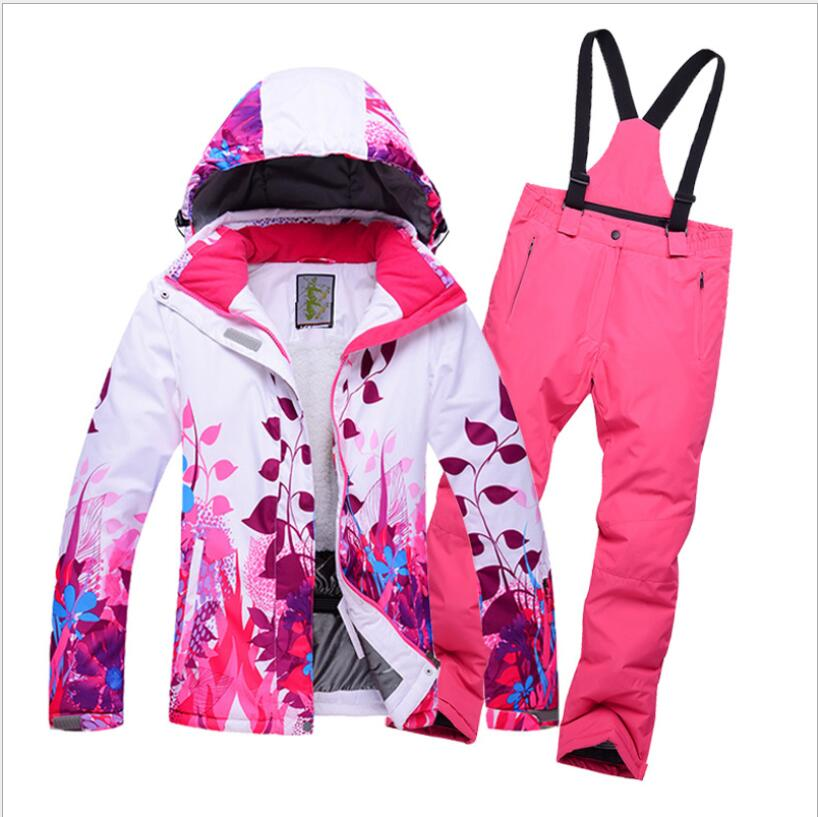 945bf108d25a Boys Girls Ski Jacket Pant Skiing Snowboard Suit Windproof ...