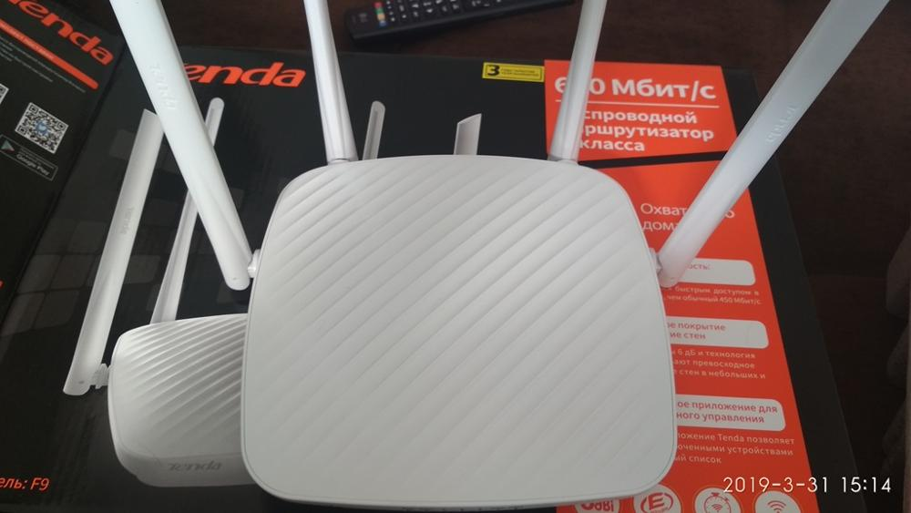 Wi-Fi роутер Tenda F9  (N600)  2,4 ГГц