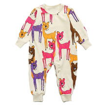 New child Child Woman Boys Romper Deer Print Toddler Clothes Swimsuit Toddler Jumpsuits Youngsters Lengthy Sleeve Rompers