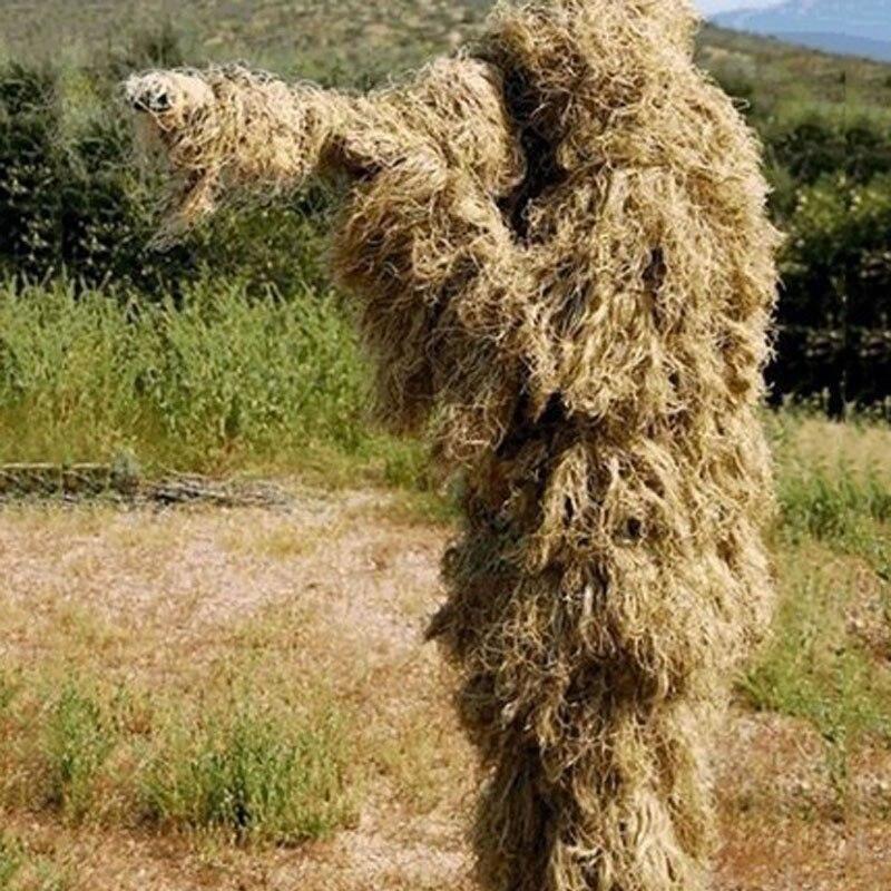 Costume de Camouflage universel 3D vêtements de forêt taille réglable Ghillie costume pour l'armée de chasse militaire ensemble de Sniper tactique