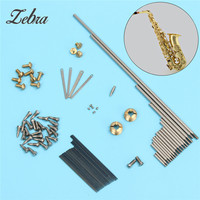 New Arrival Zebra 1 Set Alto Sax Repair Parts Screws Saxophone Springs For Saxophone Woodwind Instruments