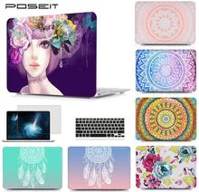 POSEIT For Macbook Pro Touch Bar 13 15 A1706/A1707/A1708 Air 11 13 Pro 13 15 Retina 12 Laptop Shell+Keyboard Cover+Screen Film poseit for alpple macbook pro touch bar 13 15 air 11 13 a1466 a1369 pro 13 15 retina 12 laptop shell keyboard cover screen film