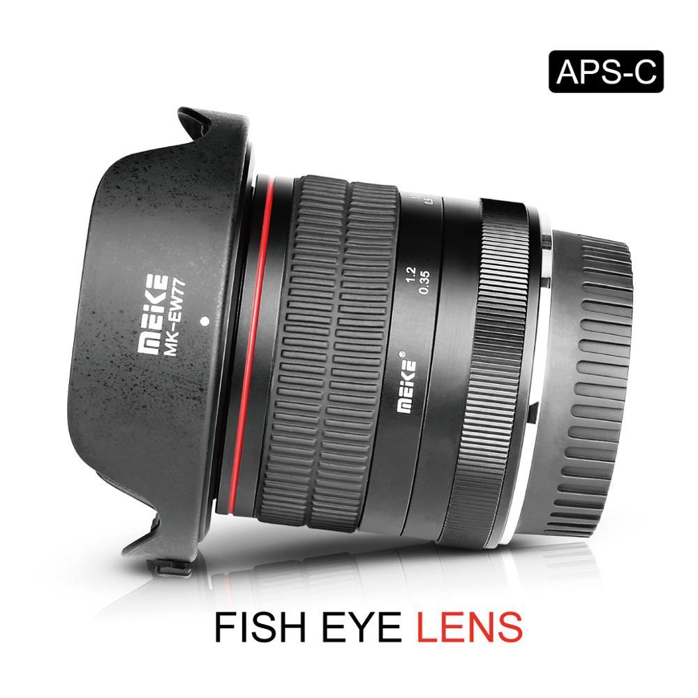 Objectif Fisheye grand Angle Meike 8mm f3.5 f/3.5 pour appareil photo Canon EF avec APS-C 6D 5D MARK IV 70D 200D 6D MARK II 1300D 200D