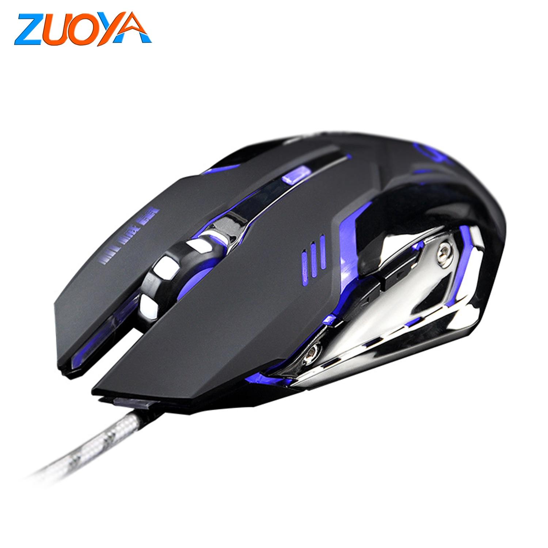 Computador Mause Optical LED Gaming Mouse DPI Ajustável Jogo Ratos Jogos Cabo USB Com Fio Do Mouse LOL Profissional para Gamer