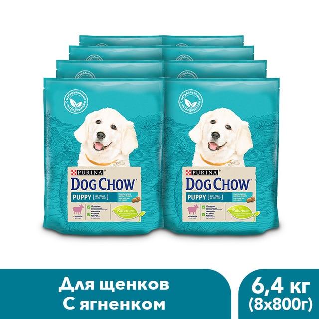Сухой корм Dog Chow для щенков до 1 года с ягненком, 6.4 кг.