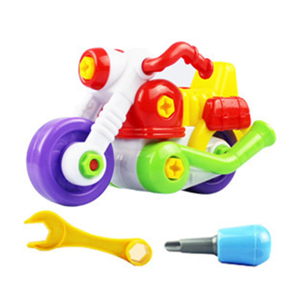 Intelligence Disassembly Screw Motorcycle Educational Toys For Children Baby Boys DIY - Picture Color
