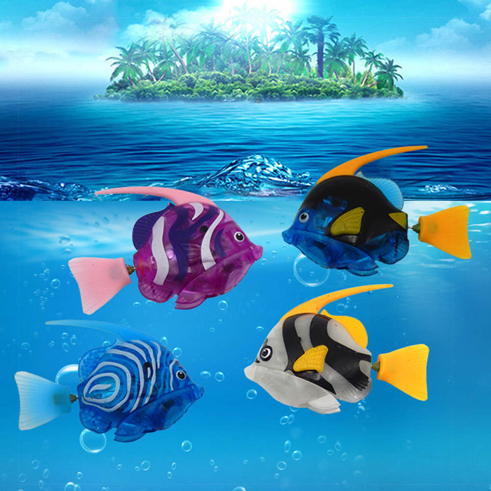 Cartoon Funny  fish Educational Battery Powered Electrical Fish Toy Water Swimmer Fish Toys For Children Gift