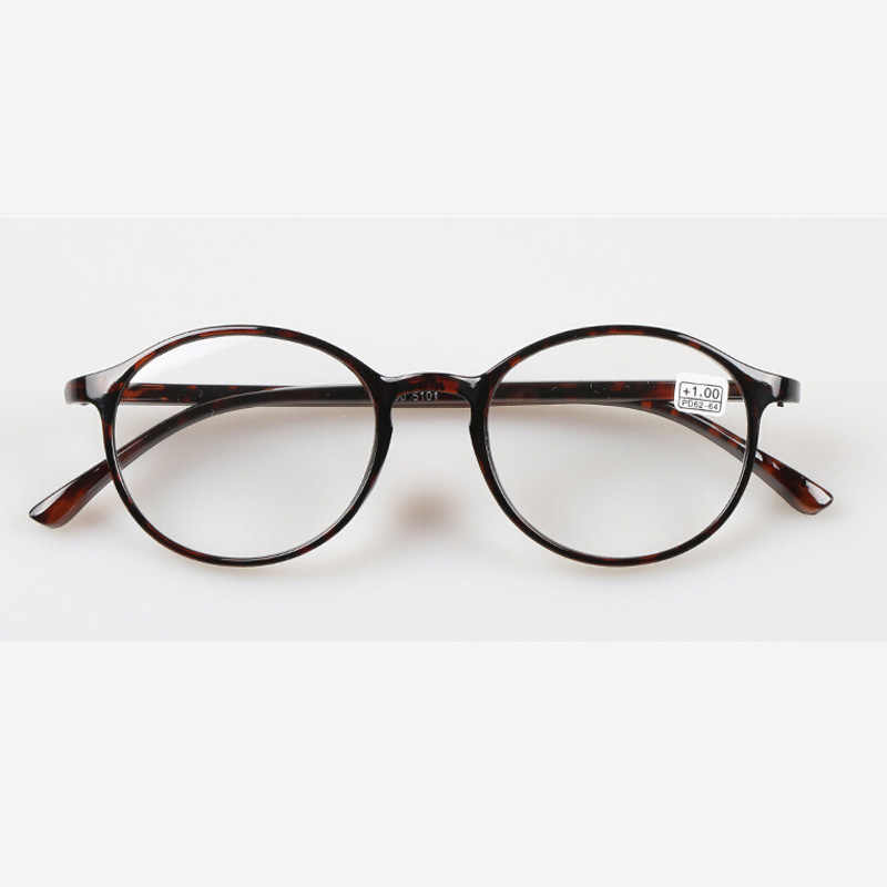 Zilead Retro Ultra ligero, gafas de lectura redondas de leopardo, gafas para hombre y mujer, presbicia + 1,0 + 1,5 + 2,0 + 2,5 + 3,0 + 3,5 + 4,0