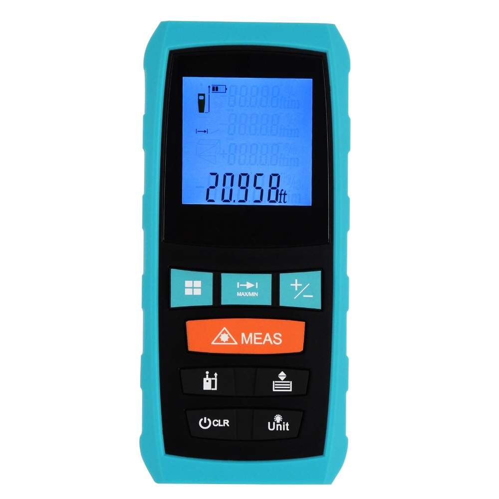 S6 Digital Laser Distance Meter 60M/197ft Range Finder +/-1.5mm Accuracy Area Volume Pythagoras Feet Inches Units Tester Tool digital laser rangefinder rz60 197ft distance meter range finder area volume angle tester tool new hot home decoration genuine