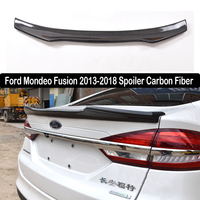 For Ford Mondeo Fusion 2013 2018 Rear Wing Spoiler, Trunk Boot Wings Spoilers Carbon Fiber 3M Paste installation